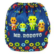 Eco Nene MR. ROBOTO pañal rellenable Suede