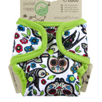 Petit Lulù rellenable Mexican Skulls (on white)
